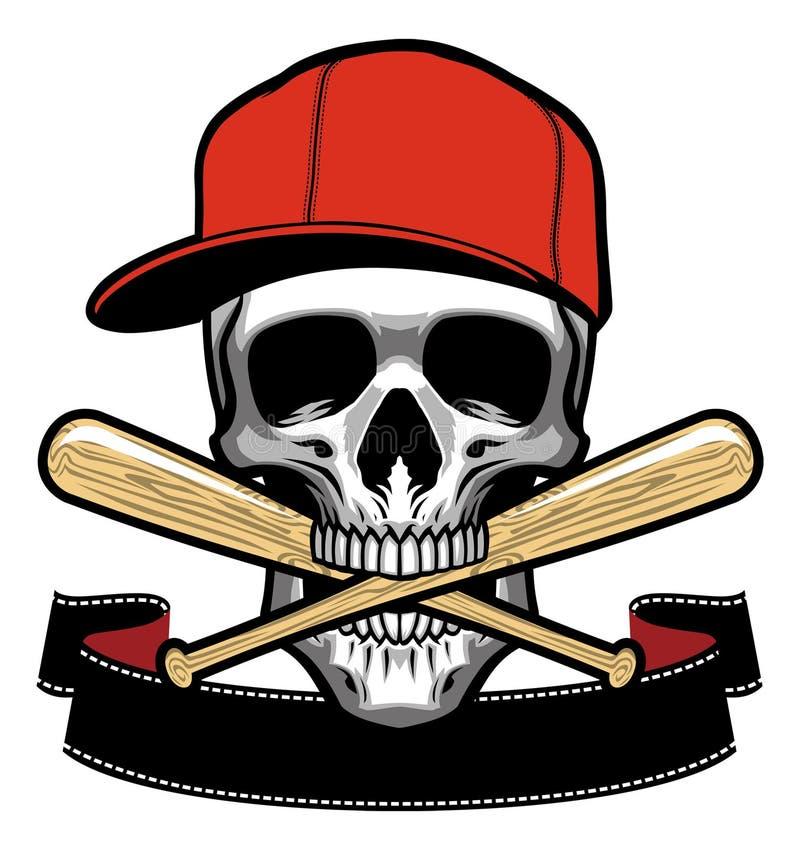 skull bite a baseball bat stock vector illustration of mascot rh dreamstime com Baseball Bat Vector Silhouette Baseball Bat Clip Art