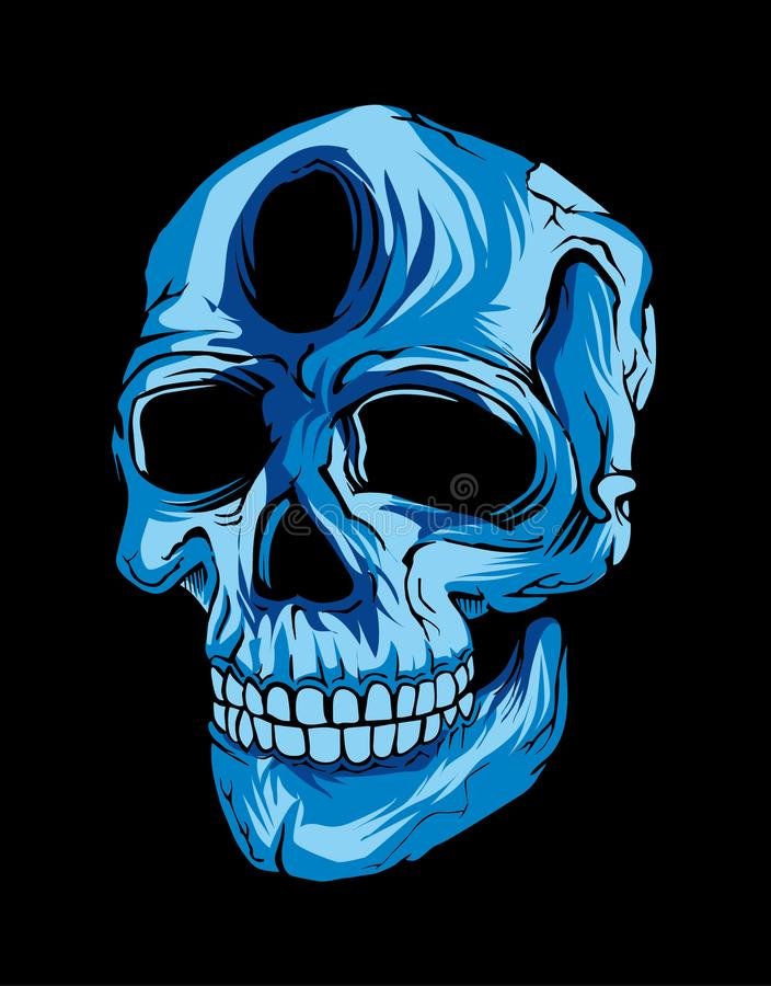 Skull in black background royalty free stock photography
