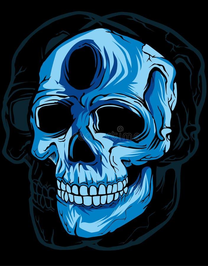 Skull in black background stock photo