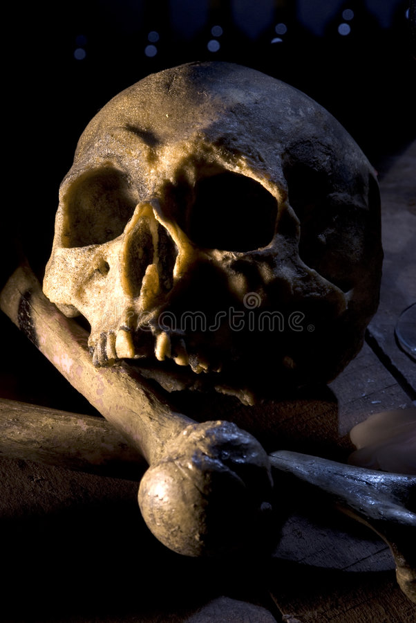 Download Skull and bones stock image. Image of religion, scary - 6843149