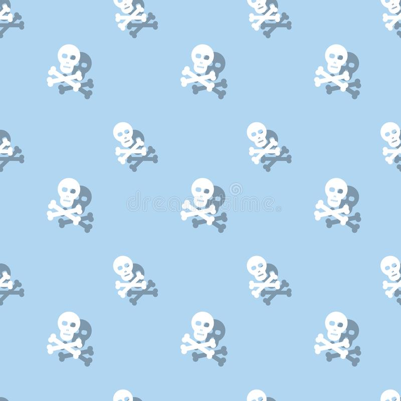 Skull And Bones Halloween Holiday Seamless Decorative Pattern royalty free illustration