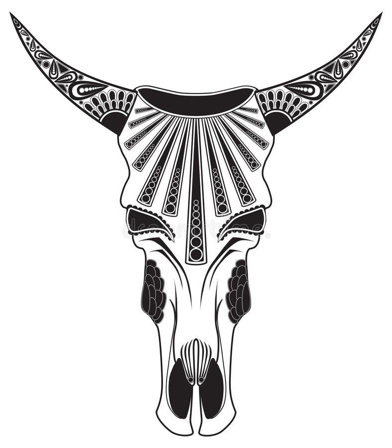 Skull of a bull stock photo