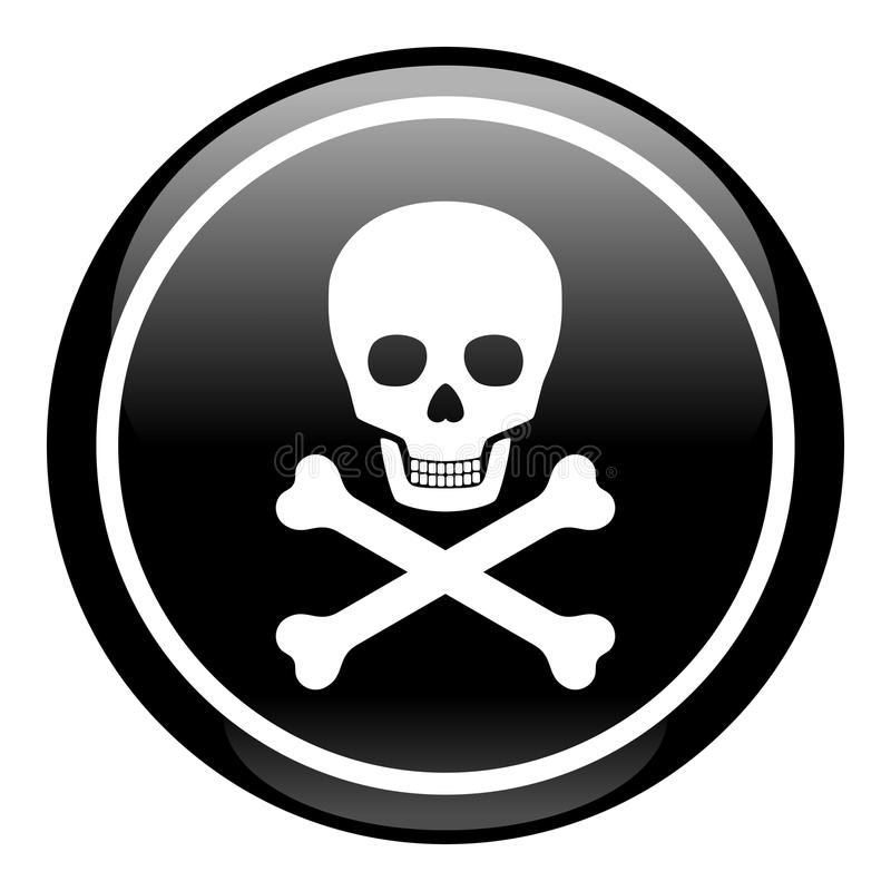 Download Skull On Button stock vector. Image of isolated, human - 14518099
