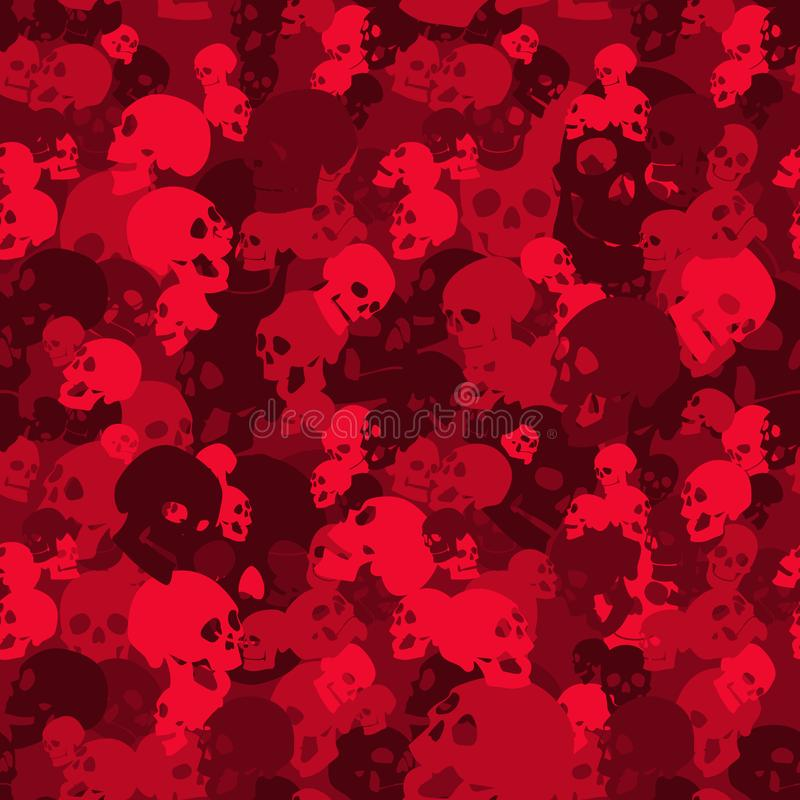 Free Skull Camo Seamless Pattern. Camouflage In Red Colors. Stock Photos - 153858533