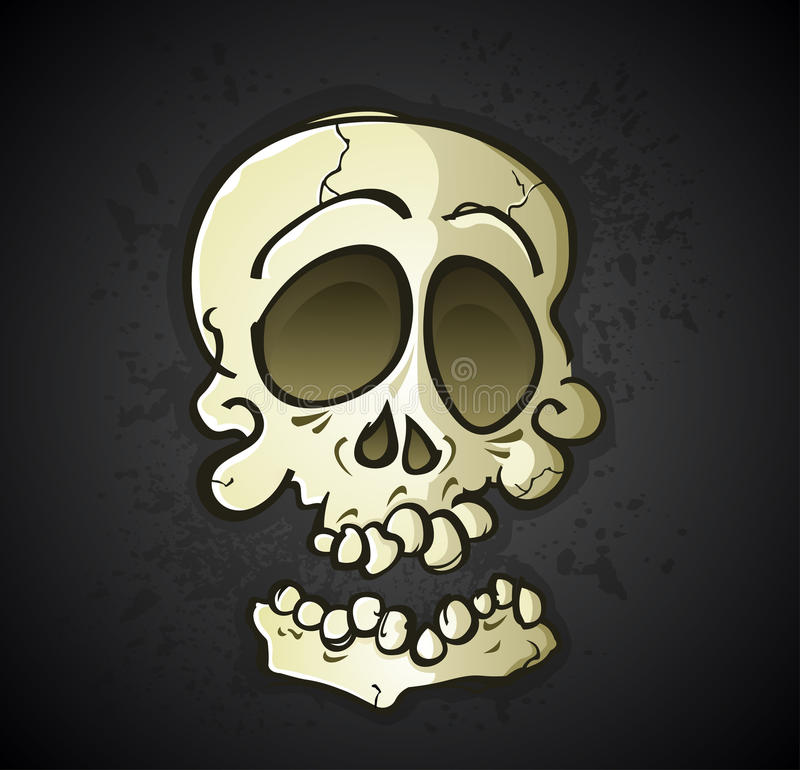 Skull Cartoon Character royalty free illustration