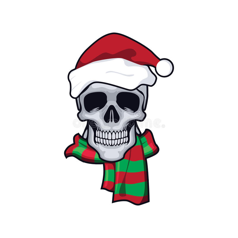 Skull and christmass royalty free stock photo
