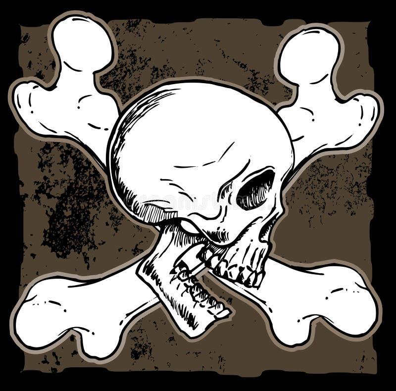 Download Skull and cross bones stock vector. Image of jolly, roger - 25956197