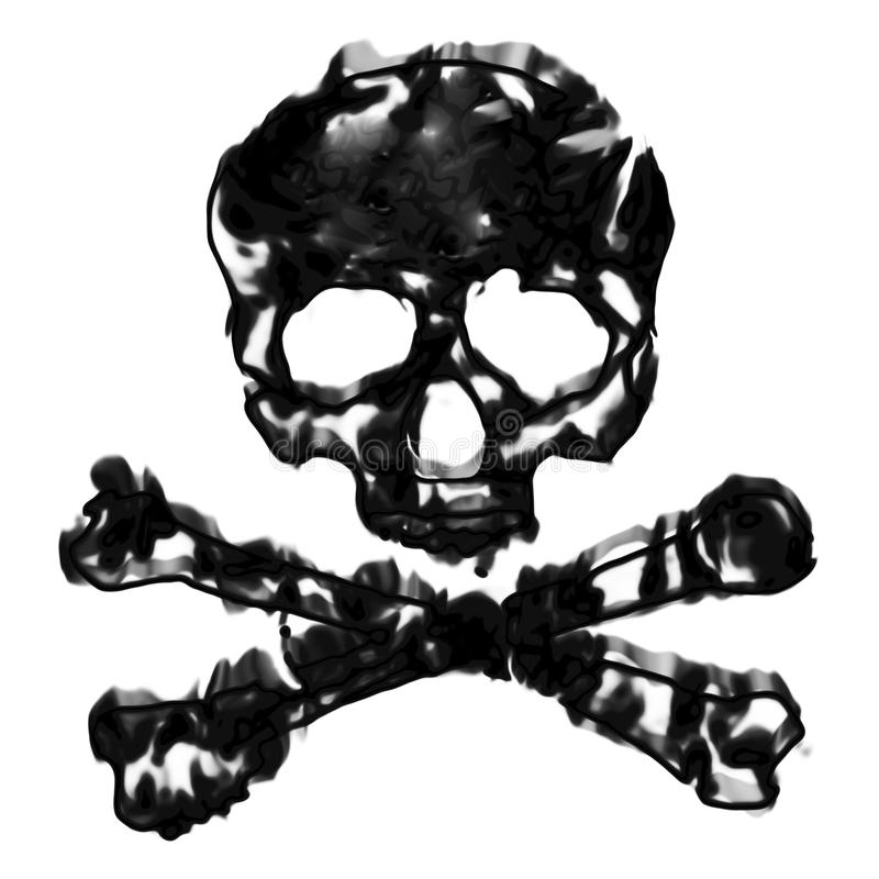Skull and Crossbones royalty free illustration