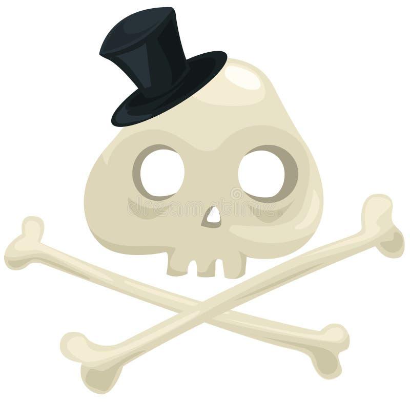 Download Skull and crossbones stock vector. Image of black, graphic - 19927508