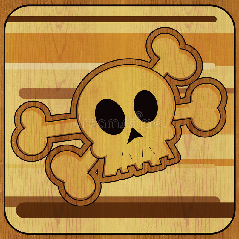 Download Skull & Crossbones stock illustration. Illustration of orange - 2773151