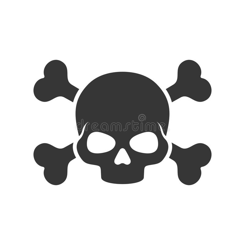 skull and crossbones icon on white background vector stock vector rh dreamstime com skull and crossbones vector art skull and crossbones vector art