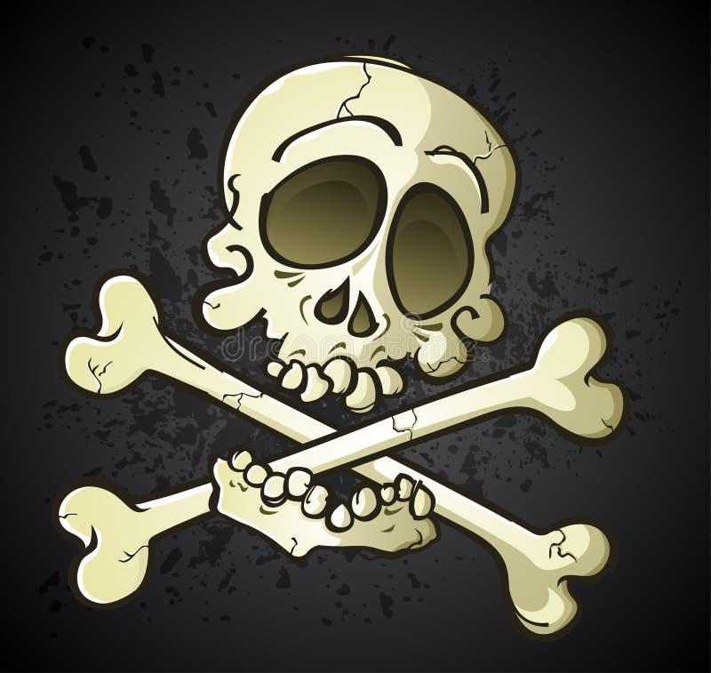 Download Skull And Crossbones Jolly Roger Cartoon Character Stock Vector - Illustration: 32020611