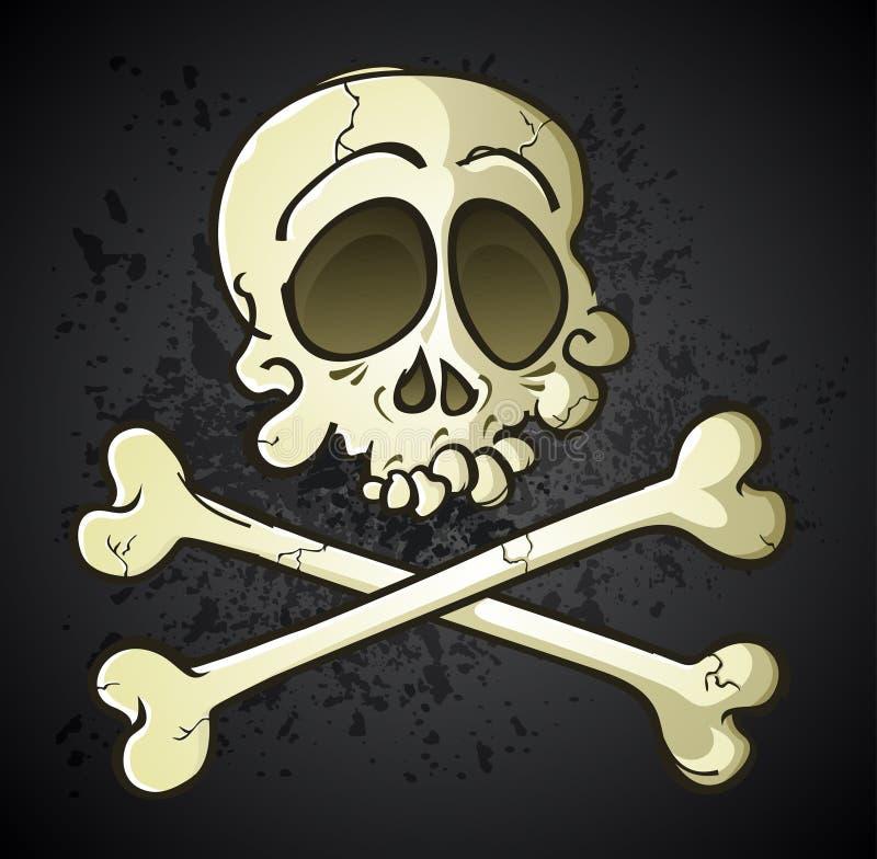 Download Skull And Crossbones Jolly Roger Cartoon Character Stock Vector - Image: 32020625