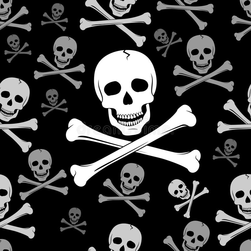 Skull And Crossbones Pattern vector illustration