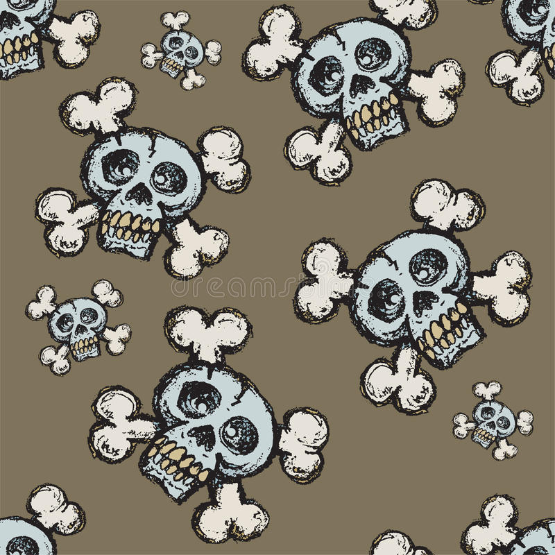 Download Skull And Crossbones Seamless Tile Stock Vector - Image: 15601638