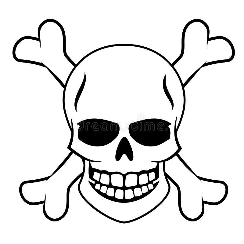 Skull with Crossbones. Vector illustration royalty free illustration
