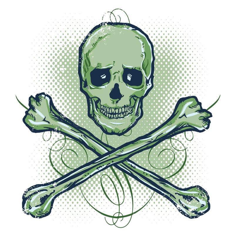 Skull and Crossbones Vector illustration royalty free stock image