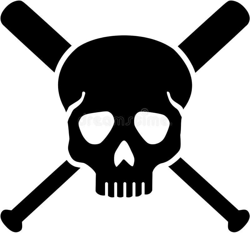 skull with crossed baseball bats stock vector illustration of ball rh dreamstime com Baseball Bat Outline Baseball Bat and Ball Clip Art