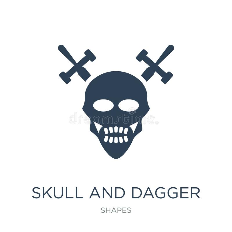 skull and dagger icon in trendy design style. skull and dagger icon isolated on white background. skull and dagger vector icon vector illustration