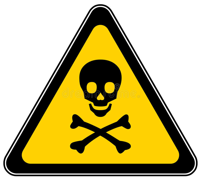Free Skull Danger Sign Royalty Free Stock Photography - 12898997