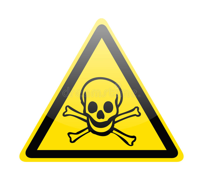 Download Skull danger signs stock vector. Illustration of mortal - 25808606