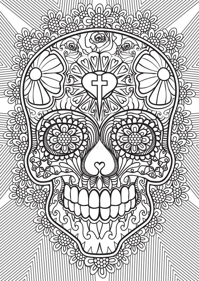 Download Skull - Day of the dead stock vector. Illustration of color - 67088409