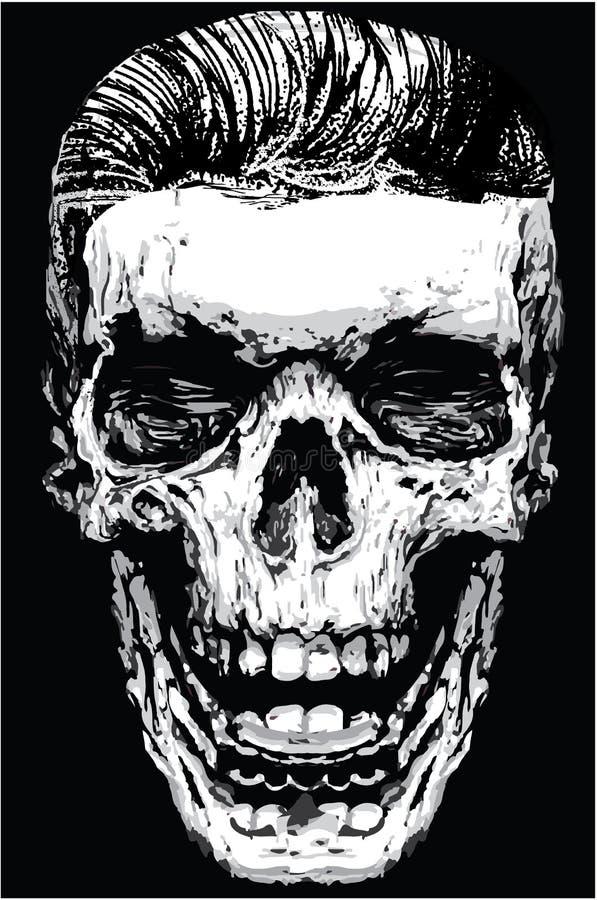 Skull Death Print Man T shirt Graphic Vector Design vector illustration