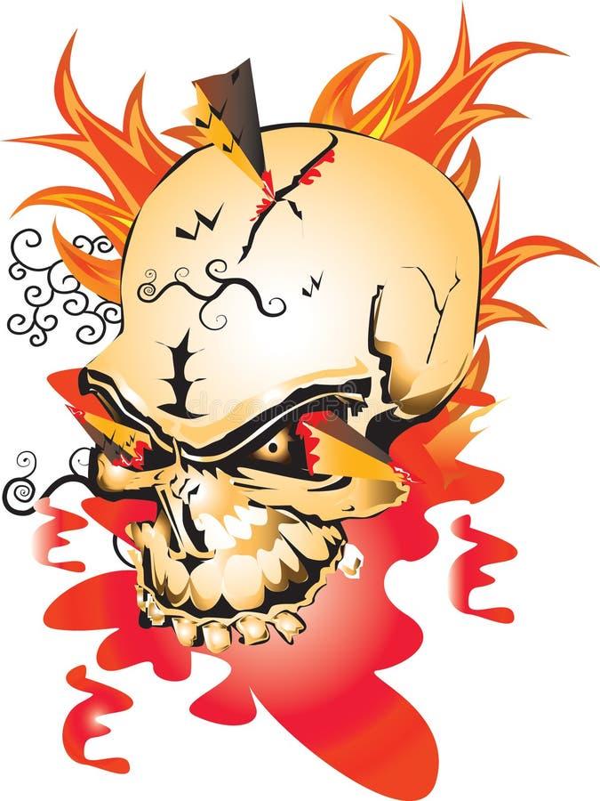 Download Skull design stock illustration. Image of fire, graphic - 27977555