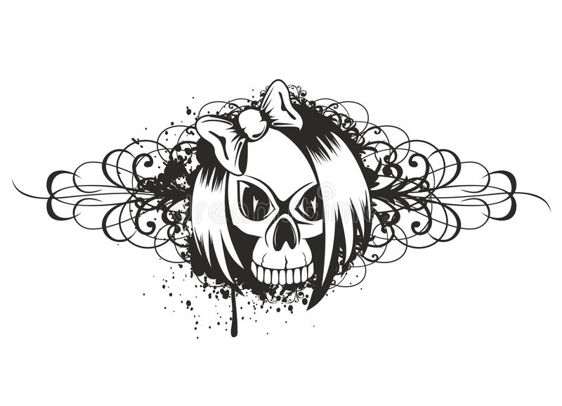 Download Skull emo with pattern stock vector. Image of holiday - 26447431