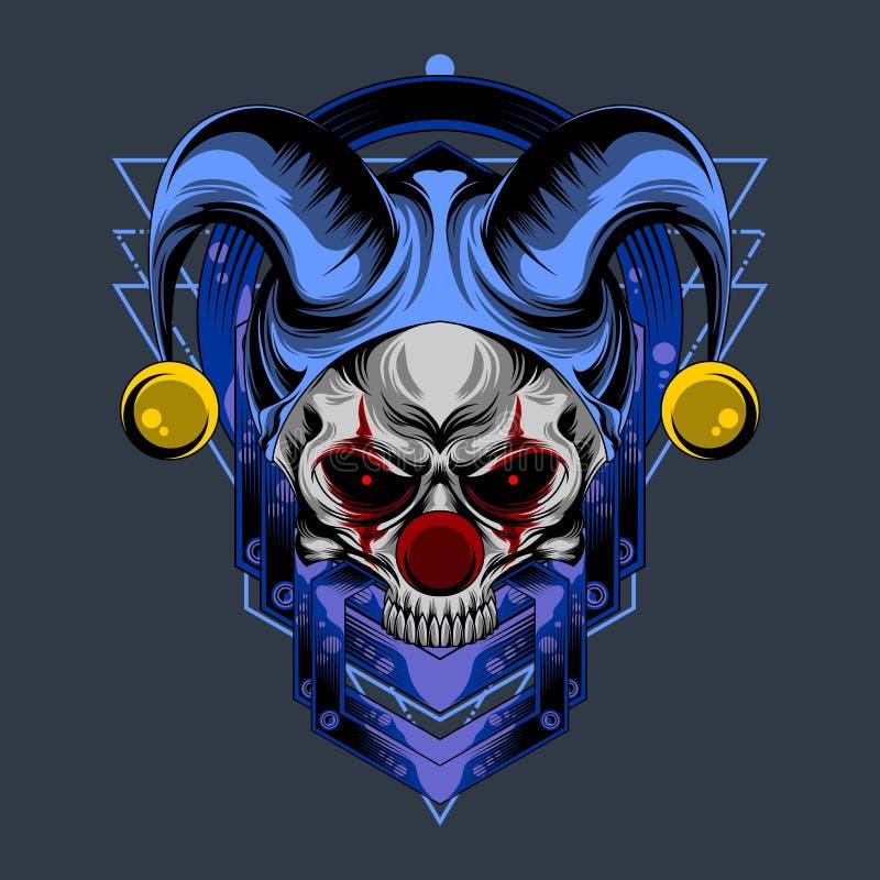 Skull face clown royalty free illustration