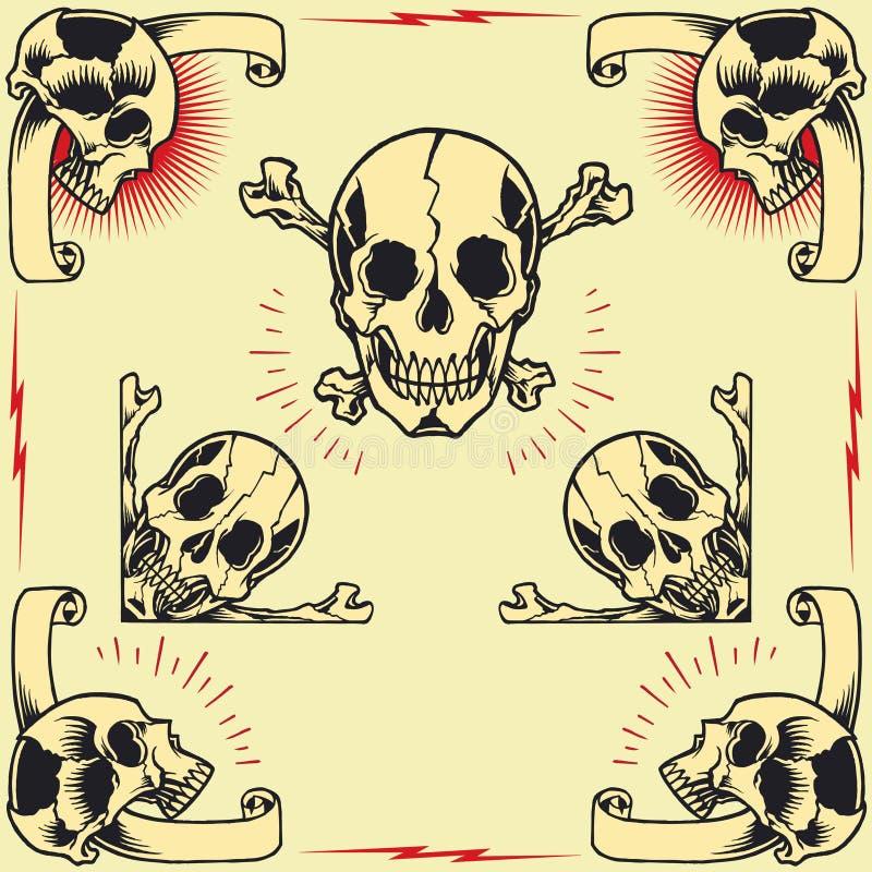 Skull Frames stock vector. Illustration of elegant, bone - 44412176