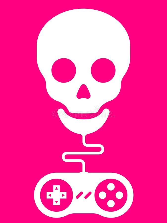 Skull with gamepad royalty free illustration