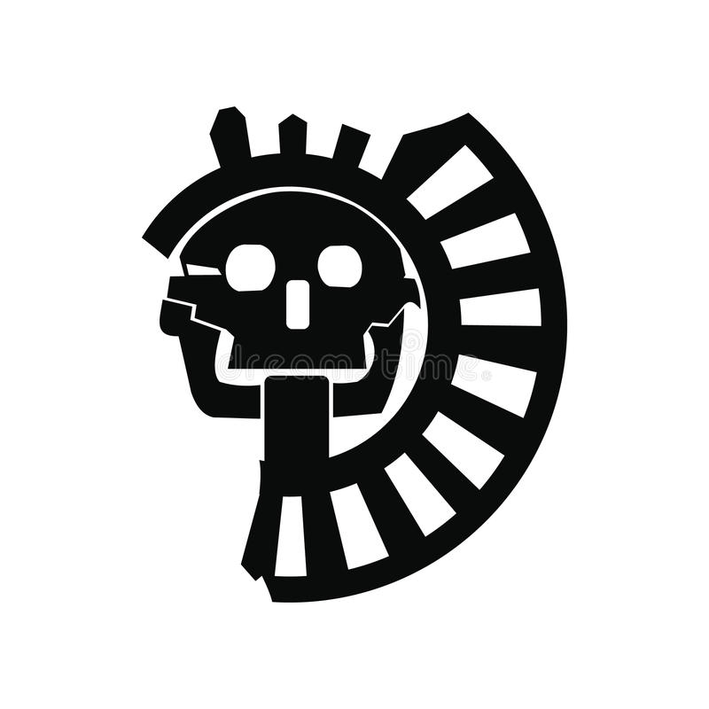 Skull The God Of Death Of Aztecs Icon Stock Vector Illustration Of