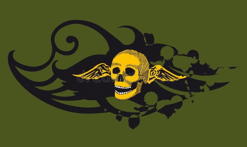 Skull green stock photo