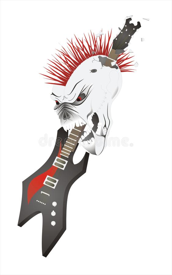 Skull With Guitar. Stock Images