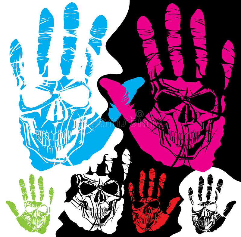 Skull And Hand Stock Photography