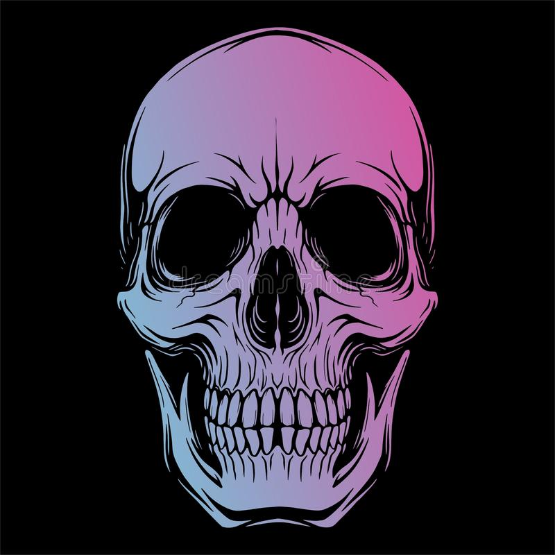 SKULL HEAD 1 VECTOR IMAGE vector illustration