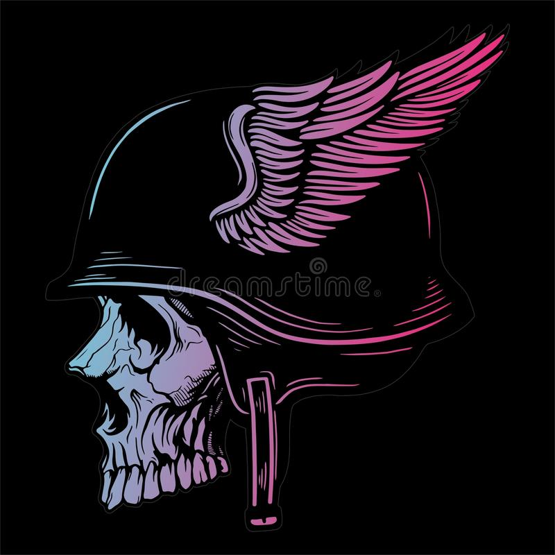 SKULL HEAD 1 VECTOR IMAGE stock illustration