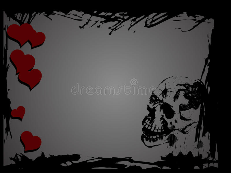 Download Skull and hearts stock vector. Image of plane, religion - 31593605