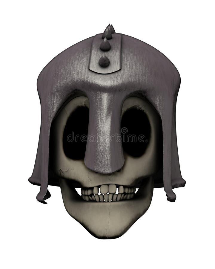 Download Skull in helmet stock illustration. Image of face, devil - 23307490