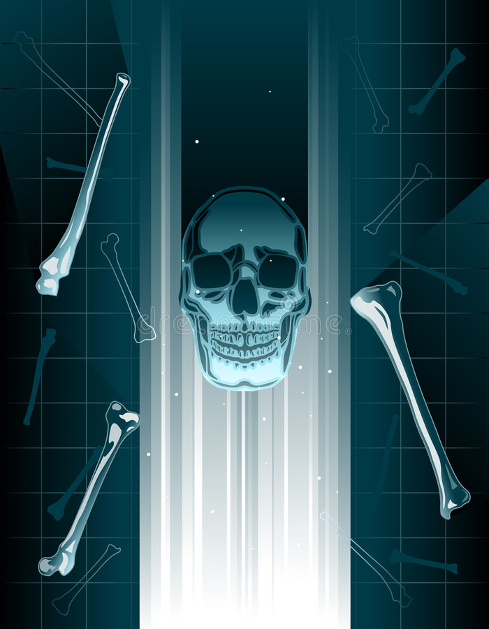 Skull hologram vector illustration
