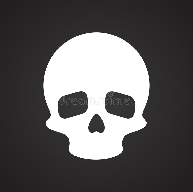 Skull icon on background for graphic and web design. Simple vector sign. Internet concept symbol for website button or. Mobile app royalty free illustration