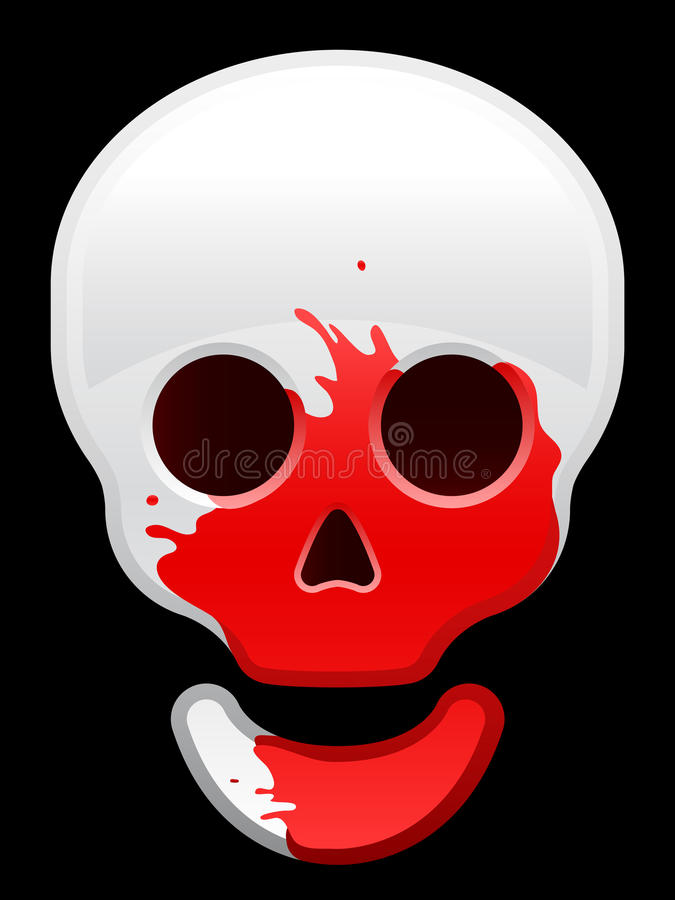 Skull icon with blood