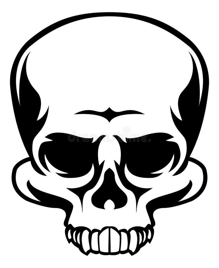 Skull Icon. A human skull icon illustration stock illustration
