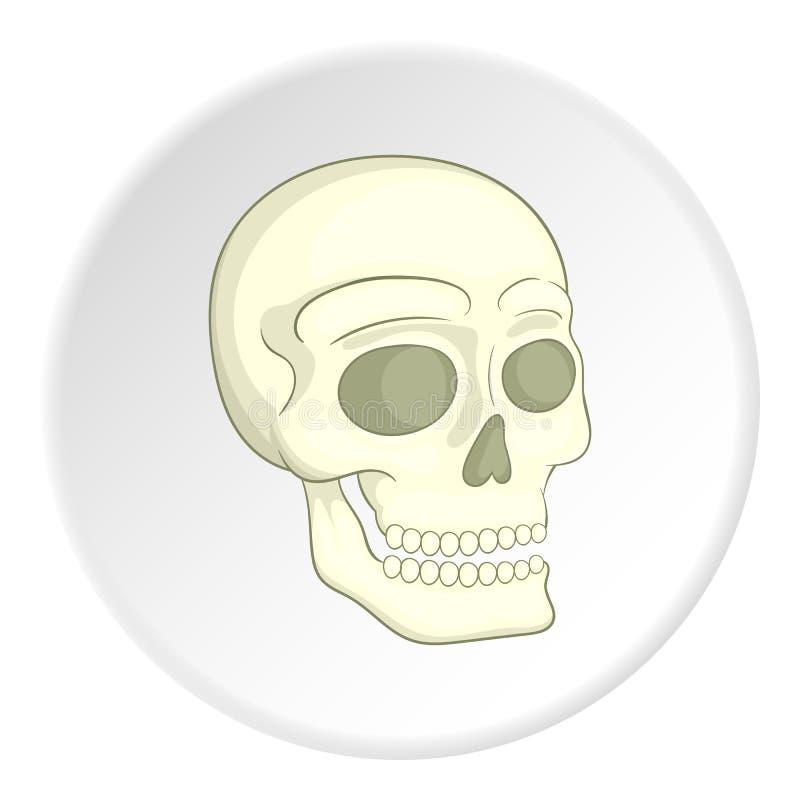 Skull icon, isometric style royalty free illustration
