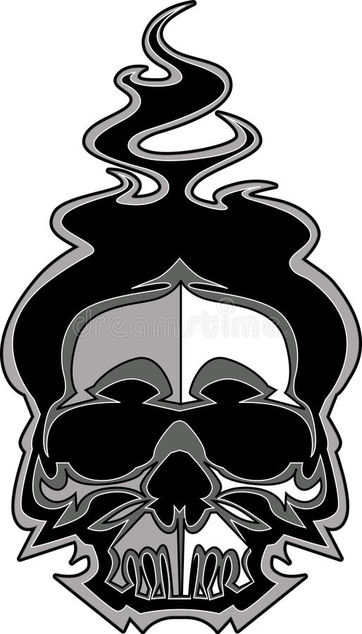 Skull Image with Flames Vector royalty free illustration
