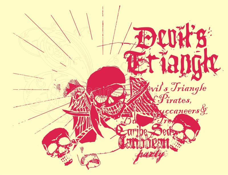 Skull line royalty free illustration