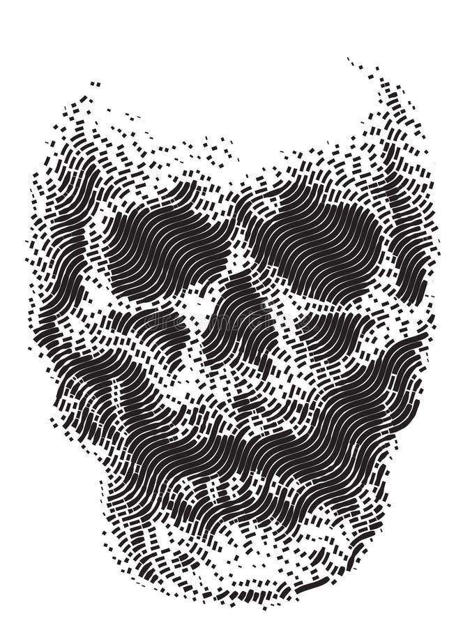 Skull line black and white stock photo