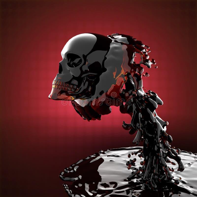 Download Skull in liquid stock illustration. Illustration of color - 23569233