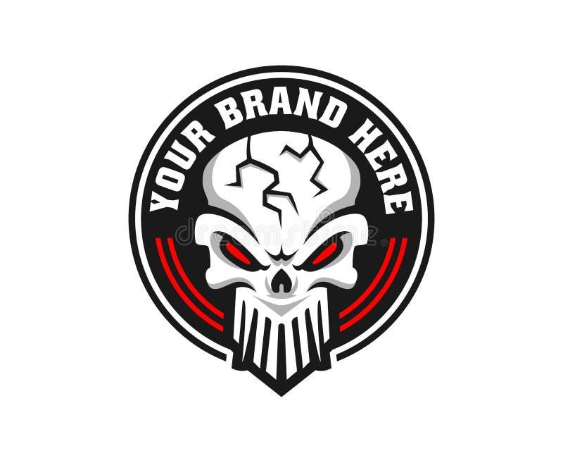 Skull logo, icon or skull illustration, vector of skeleton. Vector illustration perfect for any design purpose stock illustration